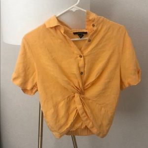 Cropped mustard shirt Forever 21